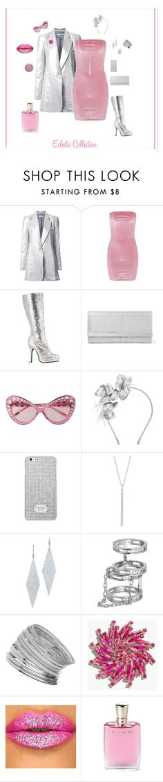 """Eclectic Collection"" by michelechambers ❤ liked on Polyvore featuring Bianca Spender, Boohoo, Jimmy Choo, Moschino, Gigi Burris Millinery, MICHAEL Michael Kors, Ivanka Trump, Tiffany & Co., Miss Selfridge and Talbots"