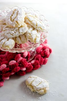 Ricciarelli di Siena.  These sweet treats are so enticing!  I want to try them so bad, but I can't quite figure out the US equivalent recipe.  I've got some ideas involving almond paste or marzipan, but I'm not sure.  Anyone??