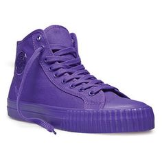 oh, wow. Purple sneakers. I just might have to buy 'em with my tax refund. Normally, I wouldn't spend that much on sneaks but these are fab!