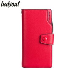Lowest Price $11.41, Buy Ladsoul Fashion Women Wallet Coin Money Bag Long Design Women Purses Famous Brand Credit Card Holder Letter Women Purse hl8500/g