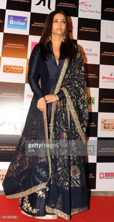 Indian Bollywood actress Aishwarya Rai Bachchan poses as she attends the Dadasaheb Phalke Excellence Awards Ceremony 2017, in Mumbai late April 22, 2017. /