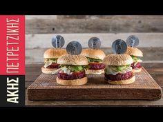 Vegan burger με παντζάρι | Kitchen Lab by Akis Petretzikis - YouTube Vegan Beet Burger, Best Veggie Burger, Vegan Burgers, Greek Olives, Why Vegan, Recipe Today, Kitchen Recipes, Beets, Food Dishes