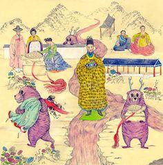 Beautiful illustrations by artist Julee Yoo