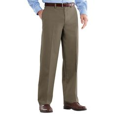 Men's Croft & Barrow® Easy-Care Stretch Classic-Fit Flat-Front Pants, Size: