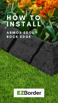 EZBorder™ garden edges are made with recycled rubber from used car tires diverted from landfill. They are eco-friendly, extremely durable, plant safe and easy to install! In this video, you will learn how to install the ArmorEdge™ Rock Edge garden border to beautify your garden spaces. Garden Edging, Garden Borders, Garden Spaces, Garden Beds, Recycled Rubber, Eco Friendly, Recycling, Rock, Landscape