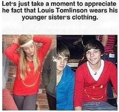 except that the picture of Lottie is much newer than the picture of Louis, so Lottie is wearing Lou's shirt