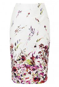 Long Tall Sally Floral Sateen Pencil Skirt