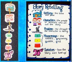 These grade levels focus more on retelling and summarizing information. It is important for students to learn about the story elements, choosing main ideas and details, and summarizing information. Retelling Rope, Retelling Activities, 1st Grade Activities, Writing Activities, Teaching Reading, Reading Tips, Student Teaching, Guided Reading, Learning