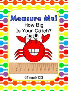 This ocean-themed measurement center is aligned with and grade Common Core Standards. Students will practice measuring to the nearest quarter inch. Preschool Math, Kindergarten Math, Maths, Math Resources, Math Activities, Second Grade Math, Third Grade, Student Teaching, Teaching Ideas