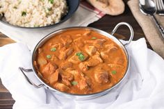 Chicken tikka masala is a popular Indian dish that is so full of flavor, so easy to make and is better than take-out. Tender chicken is marinated in spices and yogurt, then cooked in a tomato sauce with spices for a  classic Indian flavor.