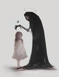 Good girl, Aoi Ogata Dark Art Style - Reality Worlds Tactical Gear Dark Art Relationship Goals Dark Art Illustrations, Dark Art Drawings, Illustration Art, Arte Horror, Horror Art, Dark Fantasy Art, Art Triste, Arte Obscura, Creepy Art
