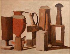 a still life by giorgio morandi Italian Painters, Italian Artist, Modern Art, Contemporary Art, Painting Still Life, Art Series, Bottle Painting, Modigliani, Artist Art