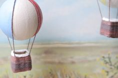 Up, up, and away! A hot air balloon how-to. #crafts #DIY
