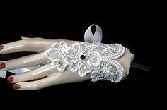 Lace Bridal Bracelet  Wedding Bracelet  by AyansiWeddingDesigns $21.00