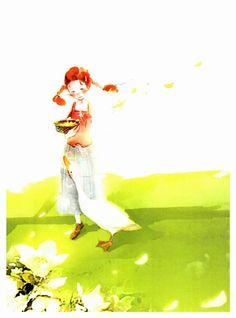 Daddy Long Legs (키다리 아저씨) - illustrated by Kim Ji Hyuk – Hey Eonni Dady Long Legs, My Daddy Long Legs, Starry Nights, Love Illustration, Classic Books, Pictures To Draw, Art Girl, Redheads, Illustrators