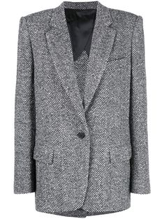 The Attico Oversized Blazer - Farfetch Tweed Blazer, Tweed Jacket, Blazer Jacket, Herringbone Blazer, Herringbone Pattern, Oversized Blazer, Denim Trends, Printed Blazer, Double Breasted Blazer