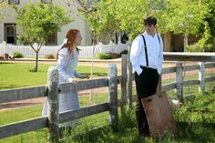 Anne & Gilbert at Avonlea's pig races ~ The Village of Anne of Green Gables . Blog post by Life on a Canadian Island.