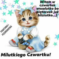 Night Quotes, Beautiful Sky, My Friend, Teddy Bear, Animals, Thursday, Happy Sunday, Polish Sayings, Animales