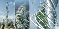 Wadala Tower, Mumbai, India. Contains a vertical urban forest.