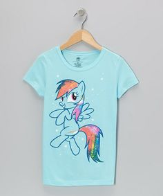 Take a look at this Blue Rainbow Dash Glitter Tee - Girls by My Little Pony on #zulily today!