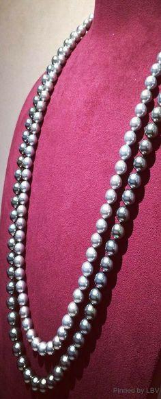 Mikimoto Dark Romance...I was in shock when my Ken brought me my double strand of black pearls....He is toooooo gooood.   CB