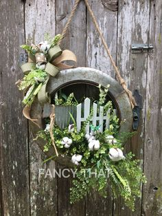 Farmhouse Galvanized Tire wreath,farmhouse decor,farmhouse wreath,country decor,Country wreath,front door wreath,spring wreath,summer wreath