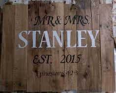 2db4381958 Rustic Reclaimed Wood Handpainted Anniversary by TimsWoodenCrafts