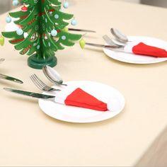 Santa Hat Tableware Holder Pocket  Free Shipping & 30 days Easy Return. Shop Affordable & Stylish Dresses, Tops, Shorts & More. # #Kitchen&Dining