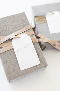 free printable gift tags to add to all your gorgeous wrapping this year. Get them here: http://www.stylemepretty.com/living/2015/12/16/diy-holiday-wrapping-paper-printable-gift-tags/ Photography: Alyssa Rosenheck Photography alyssarosenheck.com Calligraphy: Amy May Paper amymaypaper.com/