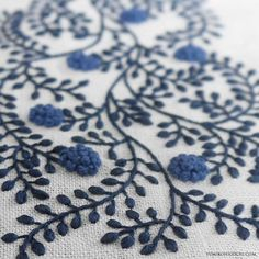 Blue flower cloth #embroidery #刺繍