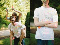 Ryan   Brianna: Paint War Engagement
