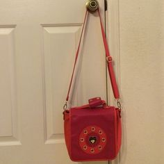 Betsey Johnson bag Betsey Johnson bag excellent condition.              Body: 100% PU.   Trim: 100% PU.  Lining: 100% polyester Betsey Johnson Bags Crossbody Bags