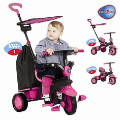 Cute Pink Smart Trike for 1 Year Old Girls
