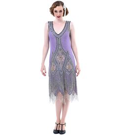 Unique Vintage Dusty Purple Embroidered Reproduction 1920s Flapper Dress (27291-A-161) van Liberty Exports - Shop early...Price - $398.00-Tfw1nNEw
