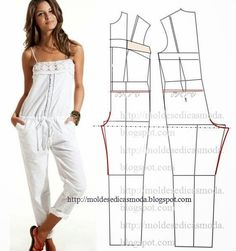 Free sewing pattern for a jumpsuit. More free sewing patterns at http://www.sewinlove.com.au/free-sewing-patterns/