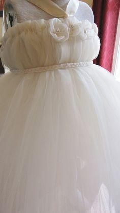 Cute Flower girl dress! Ivory flower girl tutu dress by PrincessCoutureTutu on Etsy, $37.00