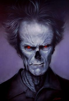Killer Paint Store - Clint Eastwood Skelebrity  Giclee Print by Mike Lavallee, USD95.00 (http://killerpaintshop.mybigcommerce.com/products/Clint-Eastwood-Skelebrity--Giclee-Print-by-Mike-Lavallee.html)