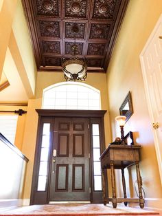 215 Coffered Ceiling Tile Is Made Out Of Pvc And Can Be Dropped Into Any Standard
