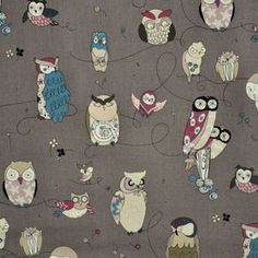 Alexander Henry House Designer - Classics - Spotted Owl in Gray