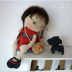 #crochet #crochet doll #amigurumi #amigurumidoll #madebyrusi #rusidolls