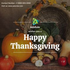 Happy Thanksgiving 😇 Visit: www.adsrole.com today! #AdsRole #Thanksgiving Happy Thanksgiving, Wish, Pumpkin, Happy Thanksgiving Day, Pumpkins, Squash