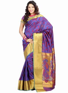 Buy indian saree online with the finest collection of indian saree. Order this charismatic art silk designer traditional saree for wedding