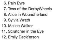 bookriot: 39 Killer Literary Roller Derby Names