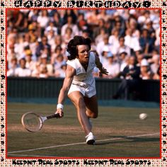 Happy Birthday: Billie Jean King  November 22, 1943 - Billie Jean King is an American former World No. 1 professional tennis player. King won a total of 39 Grand Slam titles through out her career; this includes 12 singles, 16 doubles and 11 mixed doubles titles.