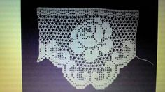 Crochet Lace Edging, Crochet Top, Roses, Crochet Doilies, Bath Linens, Cross Stitch, Crocheting, Flamenco Dresses, Border Tiles