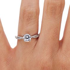Diamond Infinity Engagement Ring | Twisted Vine | Brilliant Earth