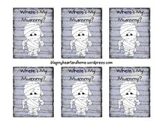 Where's My Mummy Front of Card Large Web view Halloween Party Games, Kids Party Games, Halloween Activities, Halloween Kids, Book Activities, Fun Games, Halloween Stuff, Home Made Games, Gaming