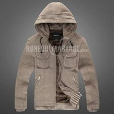 Veste polaire à capuche col des nouvelles britanniques de mode hommes [#ROBE208050] - robedumariage.com