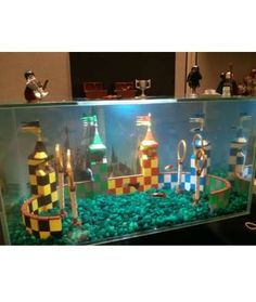 Once you get over the fact that there are Legos in a fish tank, check out the fact that the fish are... - Mom.me