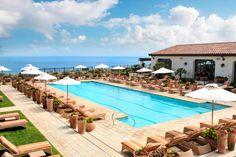 Terranea Resort spa pool in Los Angeles, California